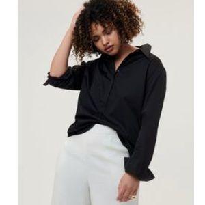 Universal Standard Elbe Shirt Black XS 10 12